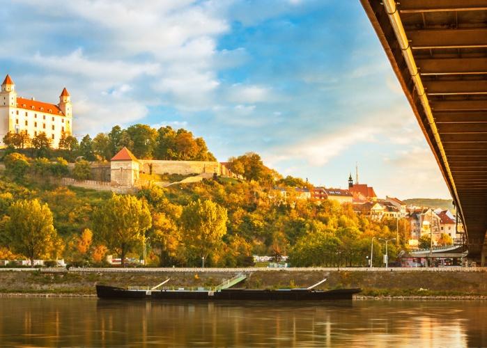 Biking along the Danube