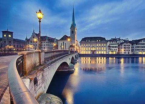 Paris to the Swiss Alps Zurich to Paris