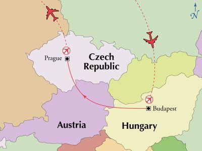 Map for 8 Day Budapest & Prague Special (Miami Special)