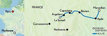 Map for 'Anjodi' - Canal du Midi