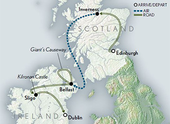 Map for Scotland & Ireland: Stories & Legends