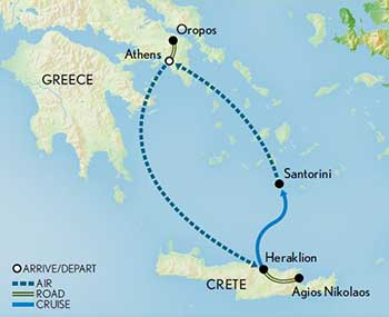 Map for Greece: Athens & the Aegean