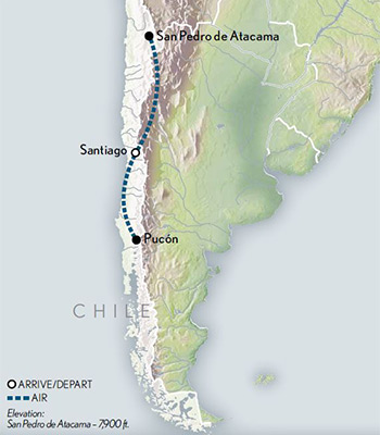 Map for Marvels of Chile