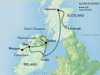 Map for Scotland & Ireland: Stories & Legends