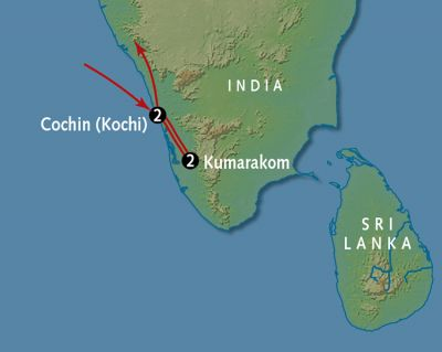 Map for Colors of South India
