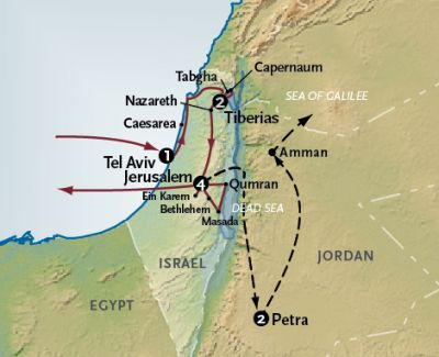 Map for The Holy Land