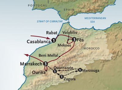 Map for The Magic of Morocco