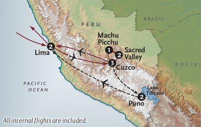 Map for Peru Explorer
