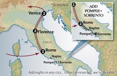 Map for Italy By Rail