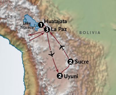 Map for Bolivia Sojourn
