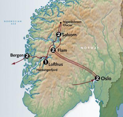 Map for Grandeur of Norway