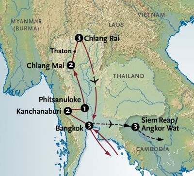 Map for Hill Tribes of Thailand
