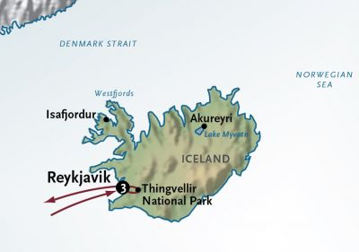 Map for Iceland in Style