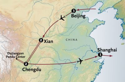 Map for The Pandas of Chengdu