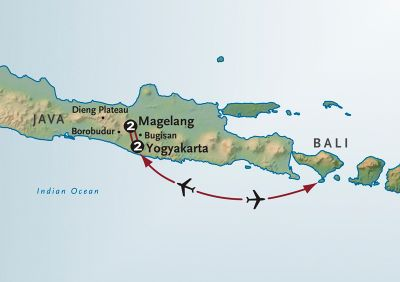 Map for Ancient Cultures of Java