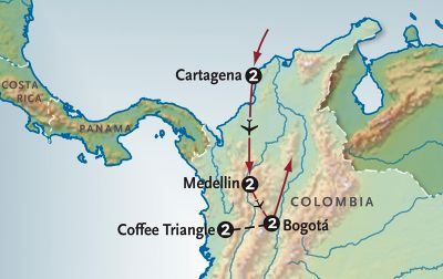 Map for Colombia Emerging
