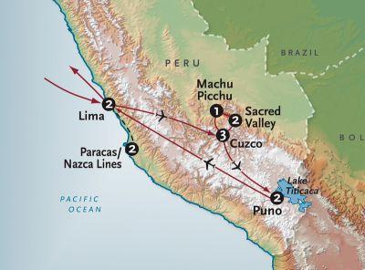 Map for Grandeur of Peru