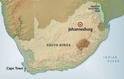 Map for Johannesburg