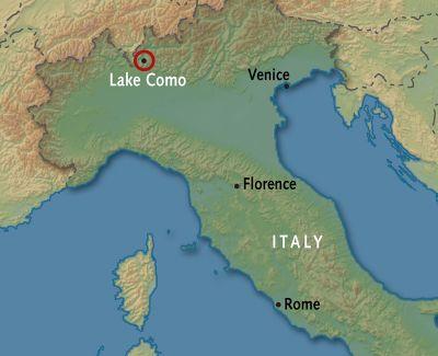 Map for Lake Como