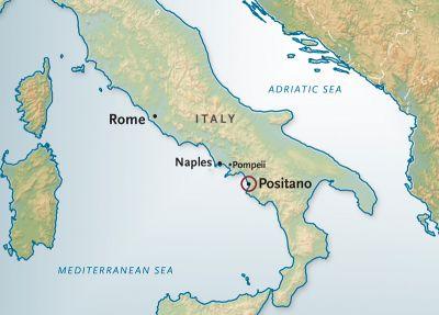 Map for Positano Private Tour