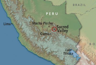 Map for Sacred Valley
