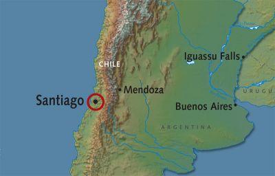 Map for Santiago