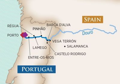 Map for Enticing Douro