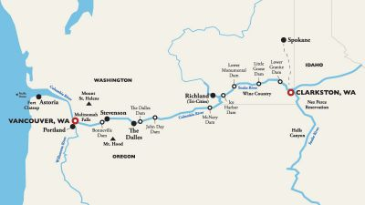 Map for Clarkston to Vancouver, WA (Portland) —  2019 (American Empress)