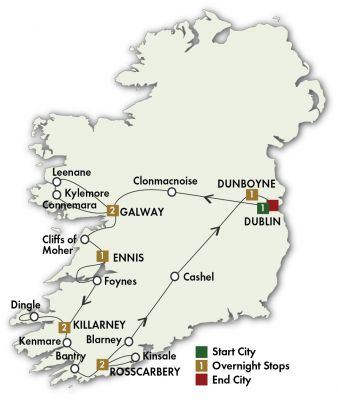 Map for Elegant Ireland - Dublin/Dublin 2020 (10 Days)