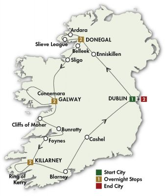 Map for Irish Explorer - Dublin/Dublin 2019 (10 days)