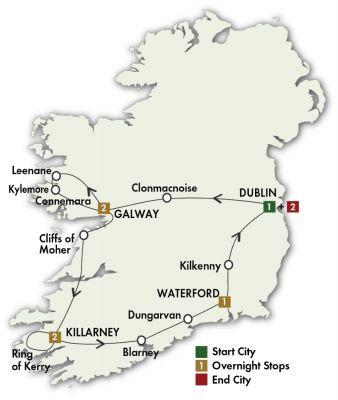 Map for Irish Gold - Dublin/Dublin 2019 (9 days)