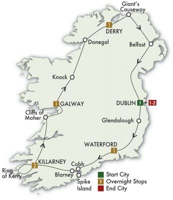 Map for Irish Adventure - Dublin/Dublin 2019 (8 days)