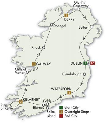 Map for Irish Adventure - Dublin/Dublin 2020 (9 Days)