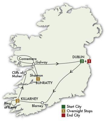 Map for Taste of Ireland - Dublin/Dublin 2019 (7 days)