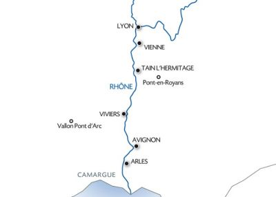 Map for The Camargue and the wild Rhône.