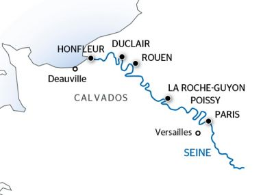 Map for From Paris to the Côte Fleurie