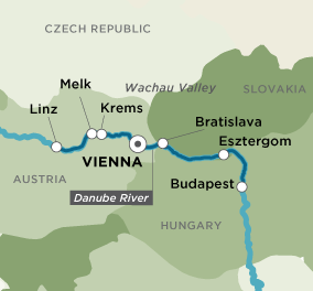Map for Danube Dreams & Discoveries (Round Trip)