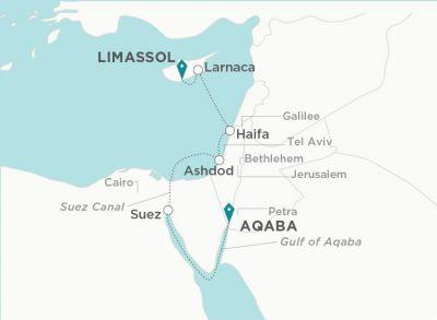 Map for Gods & Island Empires (Al 'Aqabah to Limassol)