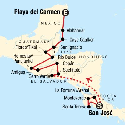 Map for Best of Central America