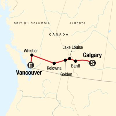 Map for Canadian Rockies Express