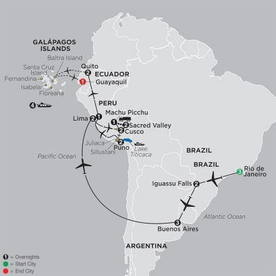 Cosmos - Ultimate South America with Galapagos Cruise 2019 - 26 day