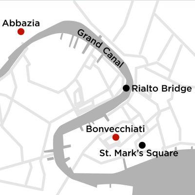 Map for Venice Getaway 3 Nights 2020