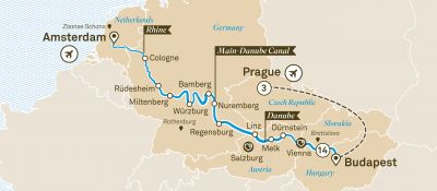 Map for Christmas Wonderland with Prague