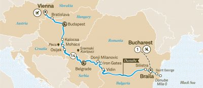 Map for Danube Delta Discovery