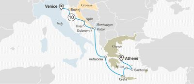 Map for Greek Isles & Dalmatian Discovery