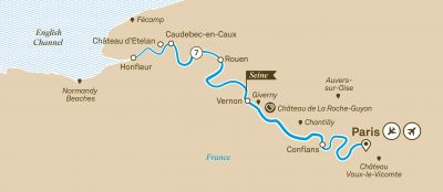 Map for Highlights of Normandy & the Seine