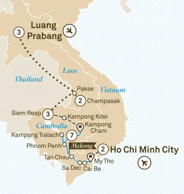 Map for Journey along the Mekong