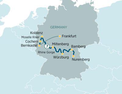 Map for Legendary Rhine & Moselle