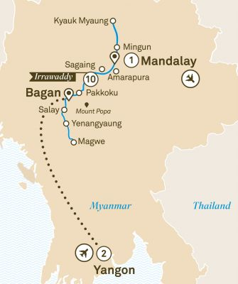 Map for Mystical Irrawaddy