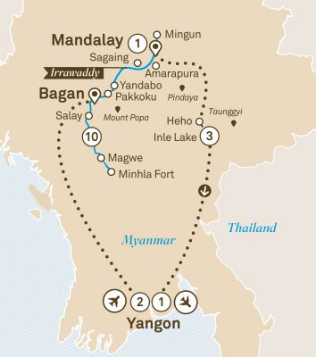 Map for Mystical Myanmar
